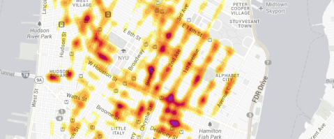 The New York Times: Tracking Taxi Flow Across the City (click for animation)