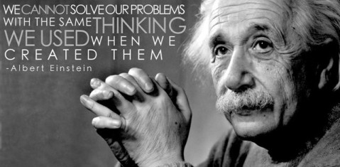 Image and quote of Albert Einstein via Andromeda Blog