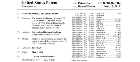 Image Source: US 8,584,025 B2 via Google Patents